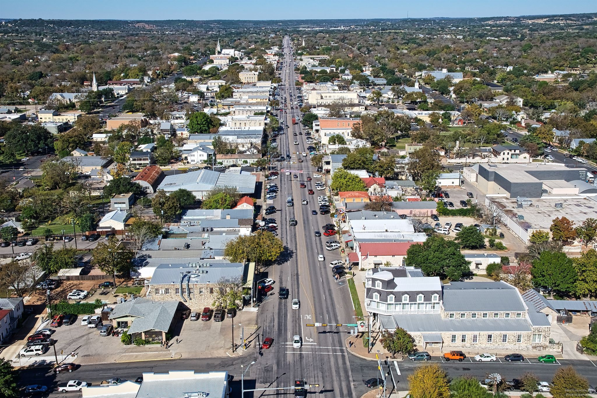 West Main St Fredericksburg Aerial View (credit Miguel Lecuona)