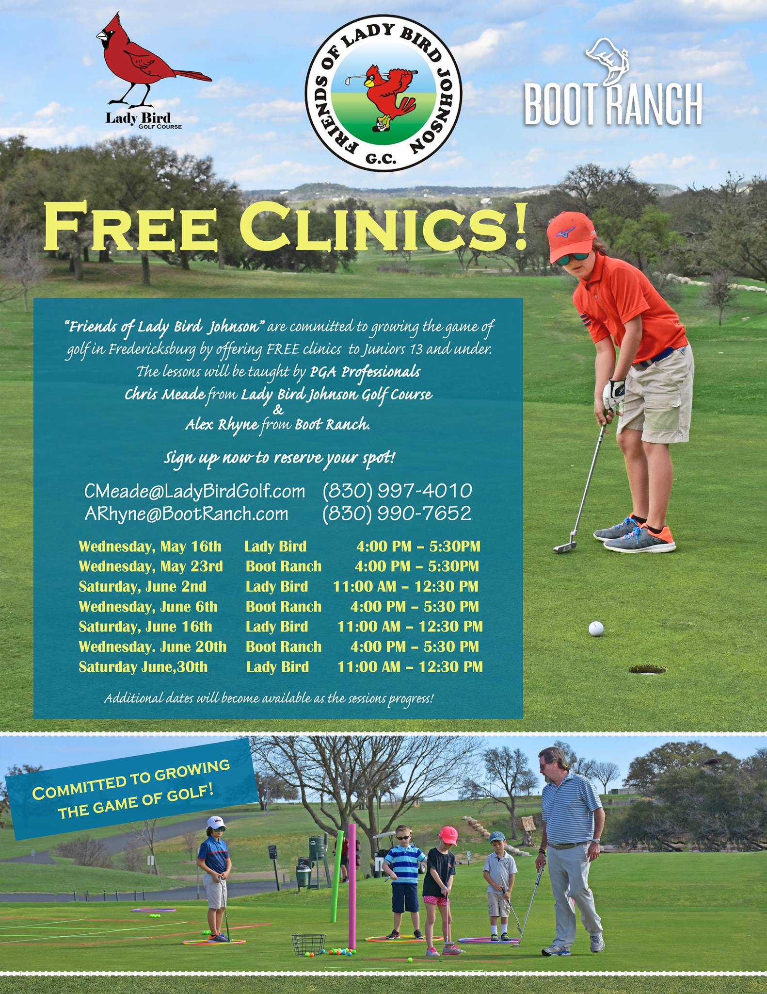 FOLB Free Clinics Flyer - with dates