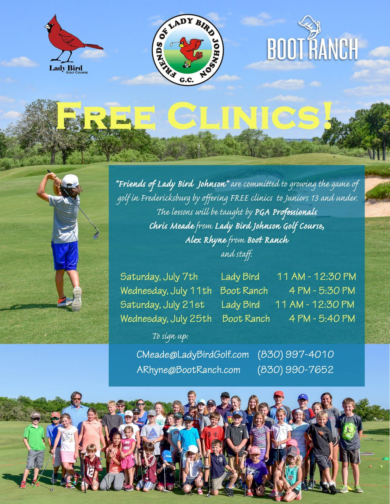 Junior Golf Clinics - July Dates