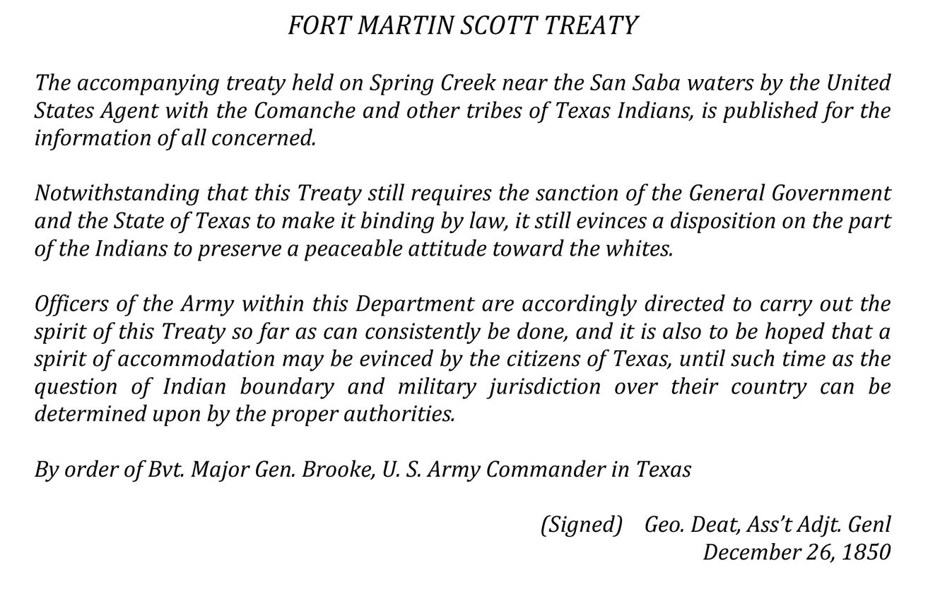Fort Martin Scott Treaty
