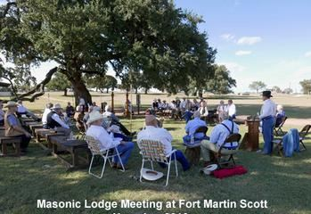 Masonic Lodge Meeting at Fort Martin Scott