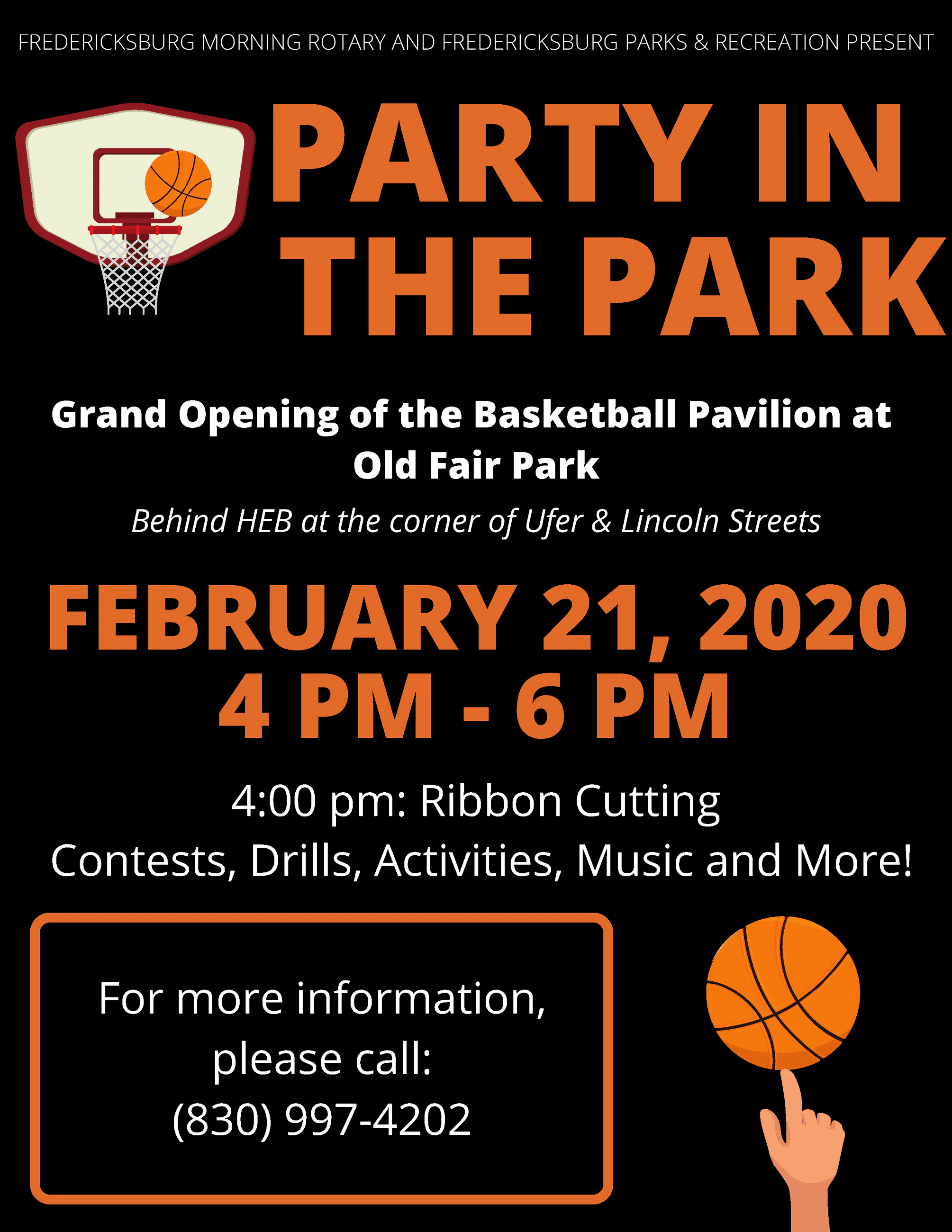 Party in the Park Flyer