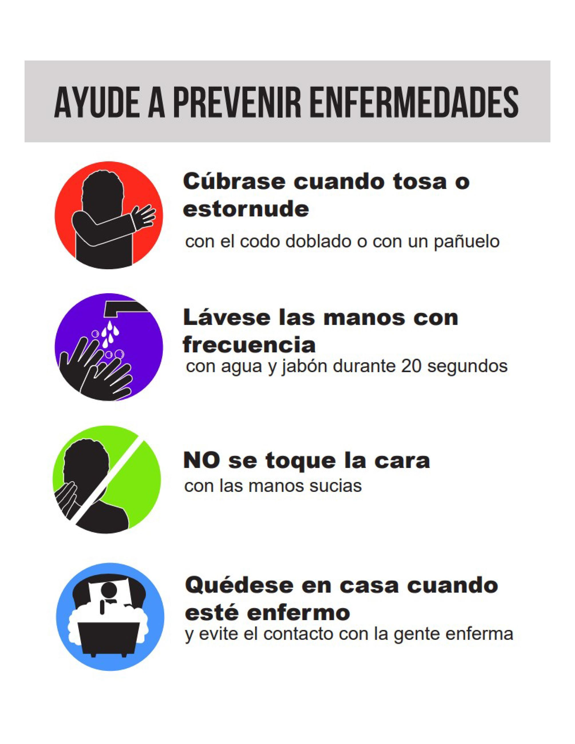 Help Prevent Disease Spanish Covid 19