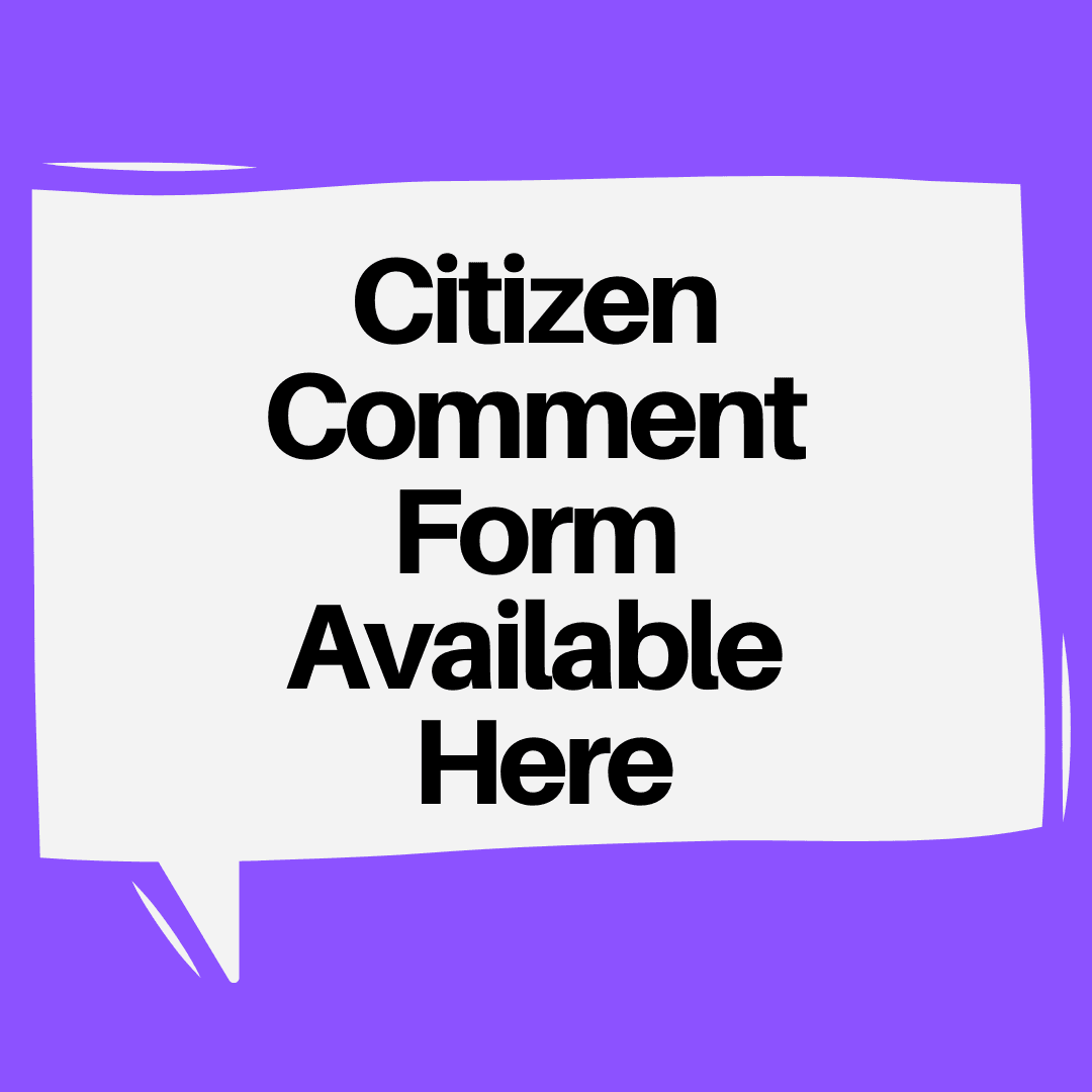 Citizen Comment Form