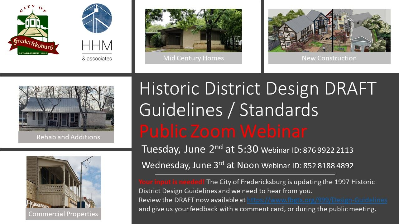 Design Guidelines DRAFT zoom meeting notice