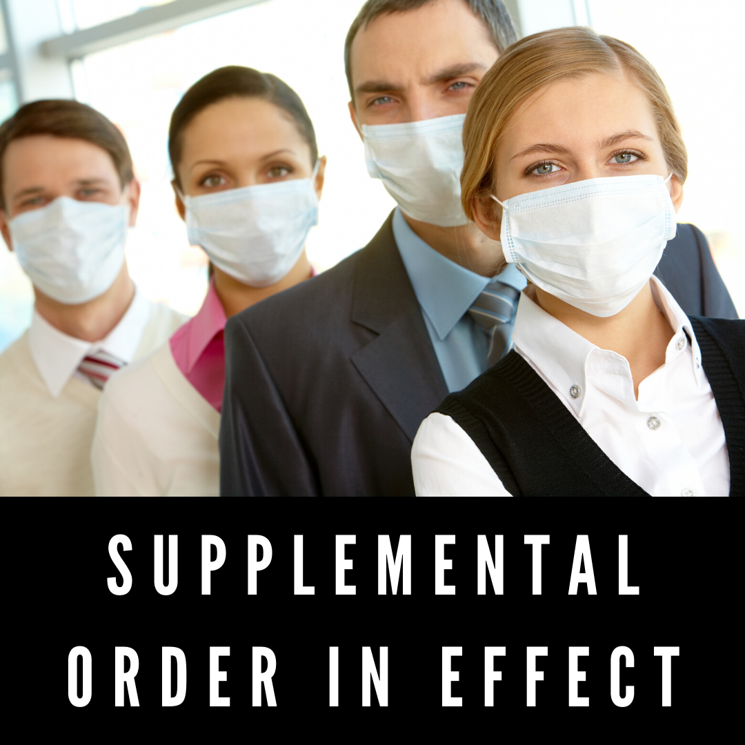 Supplemental Order in effect (1)