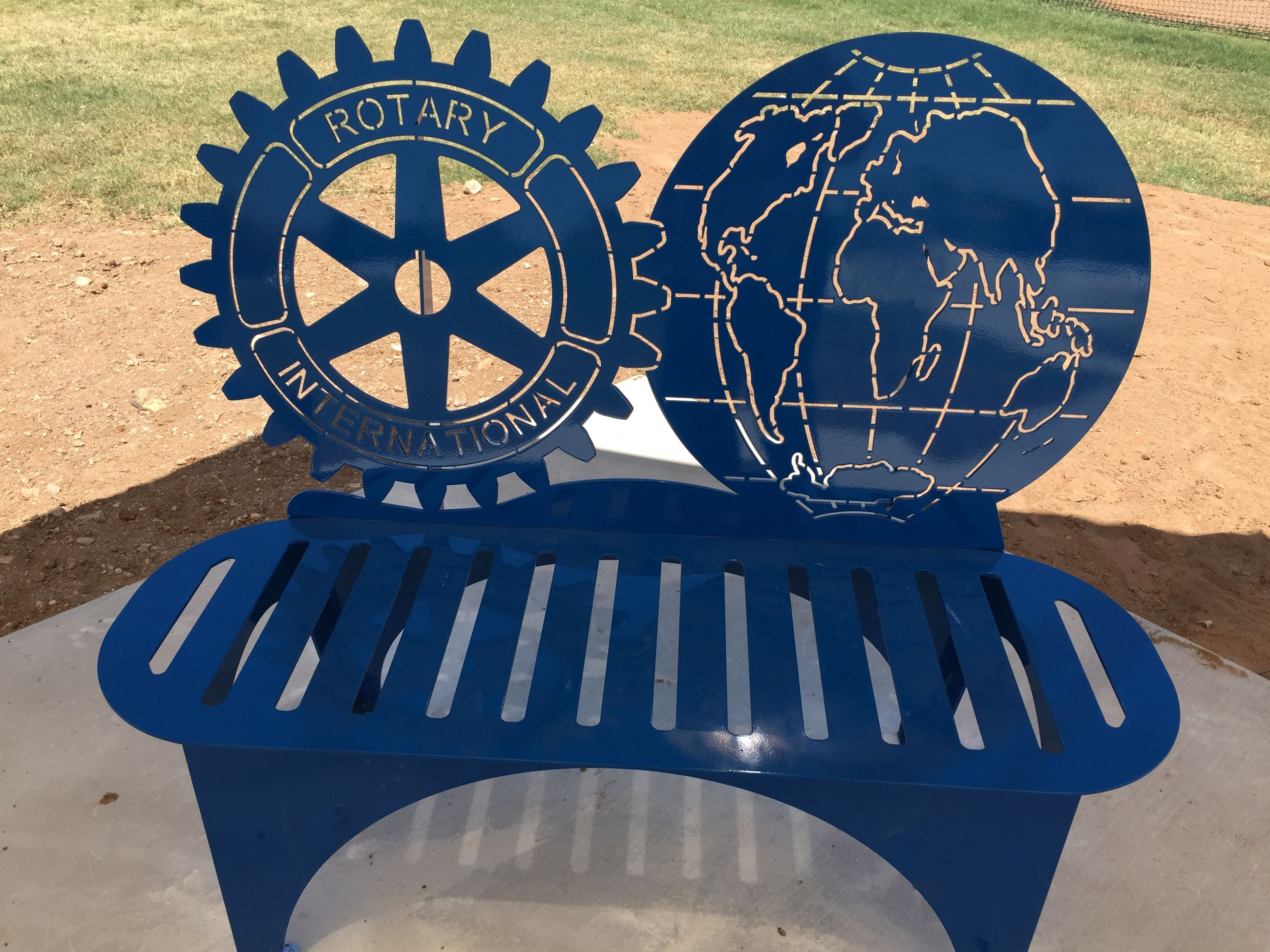 Bench donated by the Morning Rotary Club at the Skatepark at Old Fair Park