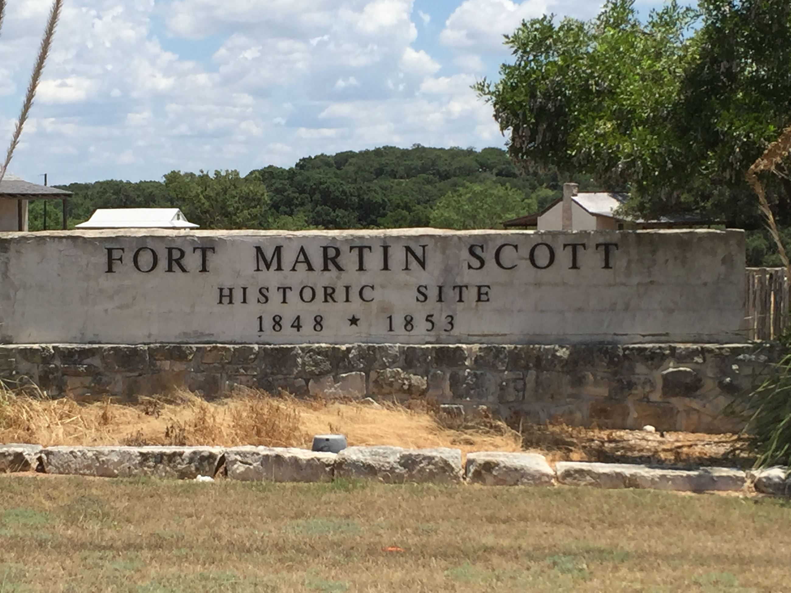 Fort Martin Scott Historic Sign